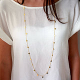long sequins pendant maxi collar chain necklace