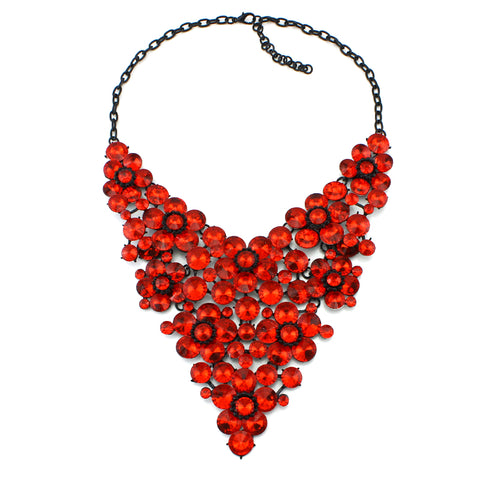 luxury big crystal collar statement necklace for women