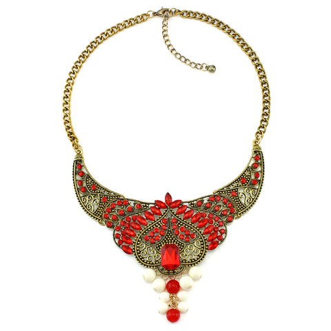 vintage resin maxi statement necklace & pendant for women