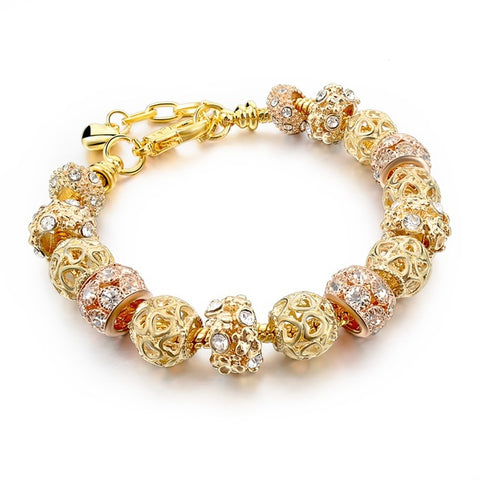 Gold color charm Bracelet & Bangle for Women