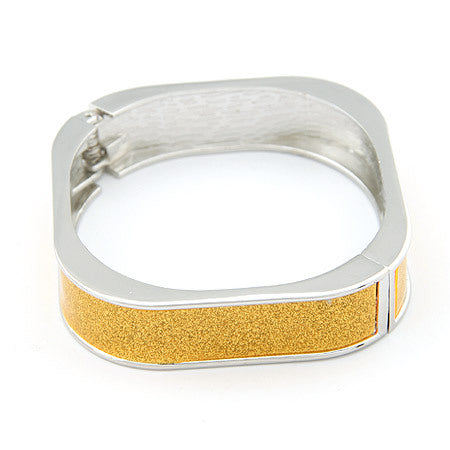 elegant gold square cuff bracelet for women