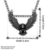 cool stainless steel eagle pendant necklace for men