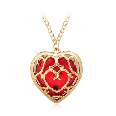 the legend of zelda hollow heart pendant necklace for women