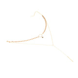 gold/silver color sequins long tassel star choker necklace