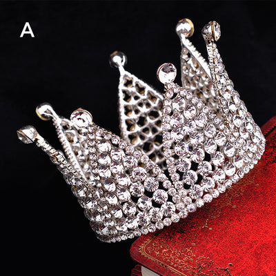 small crown rhinestone hair tiara crown