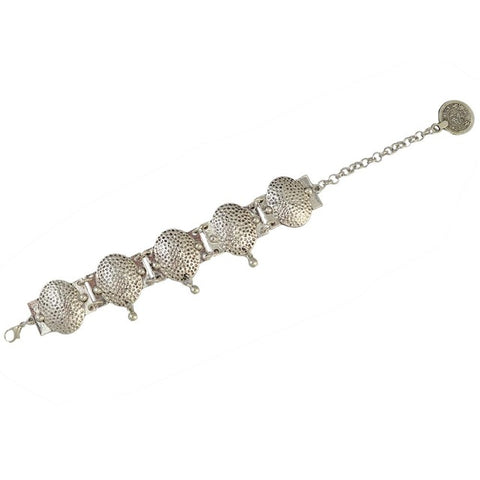 bohemian silver color chain anklet for women