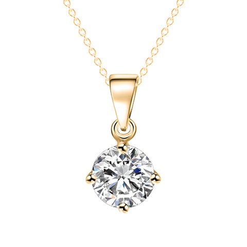 luxury crystal zircon pendant necklace for women