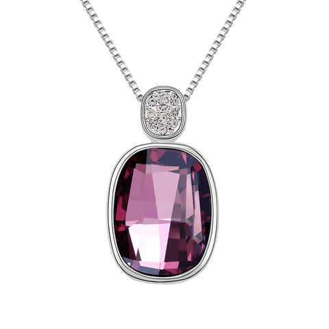 crystals from swarovski square necklace & pendant
