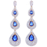 luxury long water drop earrings for women