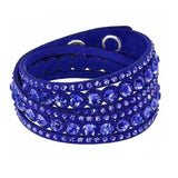 multilayer crystal bracelet double twist charm - very-popular-jewelry.com
