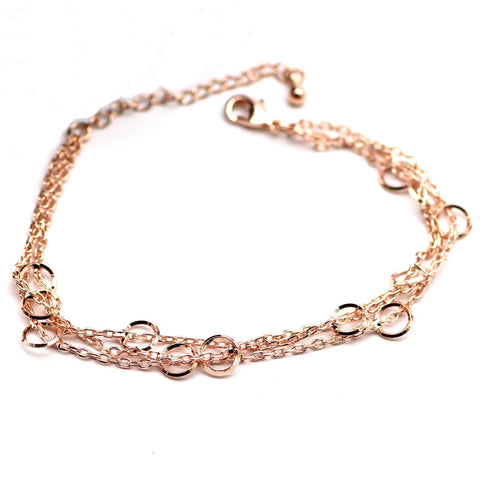 elegant three layers round circle bracelet for women