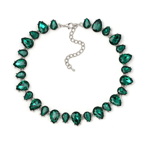 luxury full crystal choker statement necklace for women