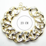 chunky big thick gold color chain anklet for women