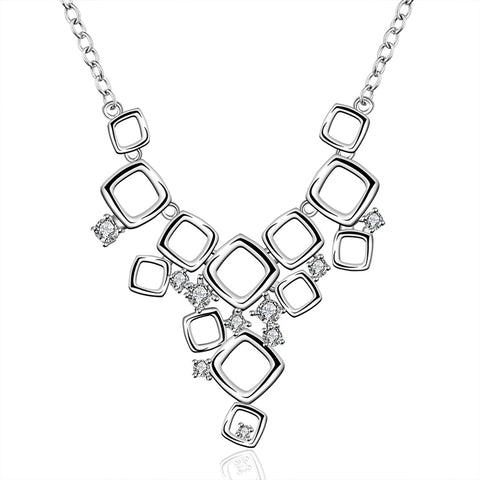 sterling silver rhinestone necklace & pendant