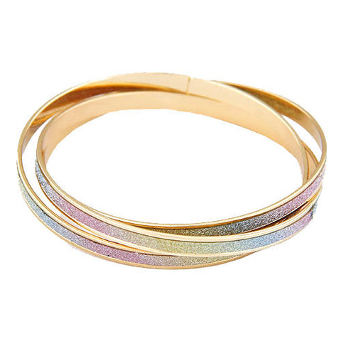 gold layered charm bracelet bangle for women