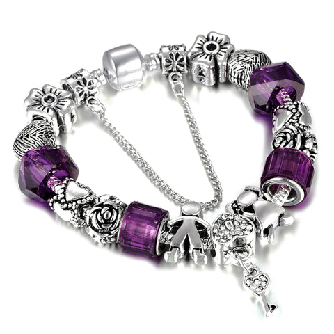lock of luck charm bracelet charm beads for women