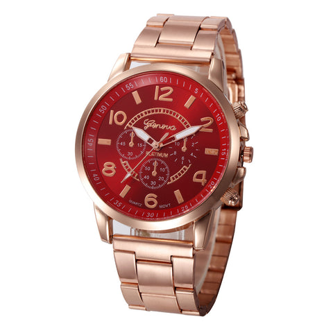 trendy stainless steel quartz wrist watch for men