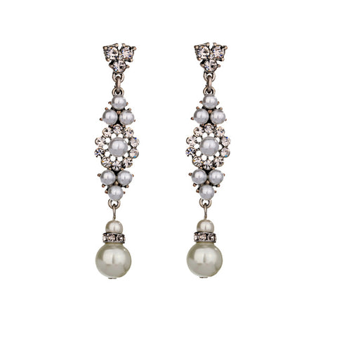 elegant simulated pearls earrings for women