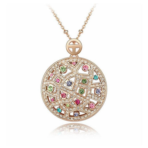 crystal from swarovski round Pendant necklace for women
