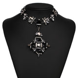 luxury crystal choker statement body jewelry for women