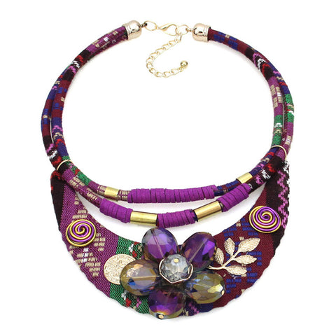 vintage handmade crystal choker statement necklace for women