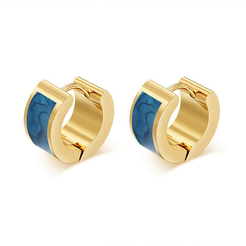 gold color stainless steel hoop earrings for women