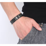 stainless steel black color bracelet bangle for men