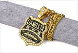 hip hop style GANGSTA pendant necklace for men