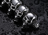 stainless steel skull bracelet for men