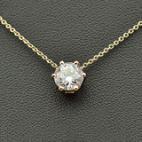 big zircon crystal star pendant chain necklace for women