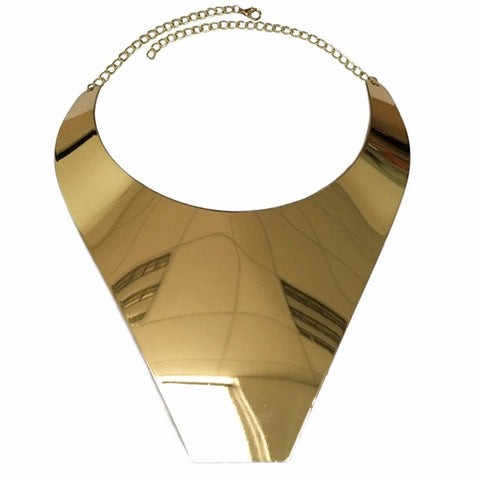 geometric statement big collar choker necklace for women