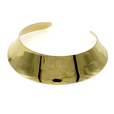 punk style gold/silver color open torques choker necklace