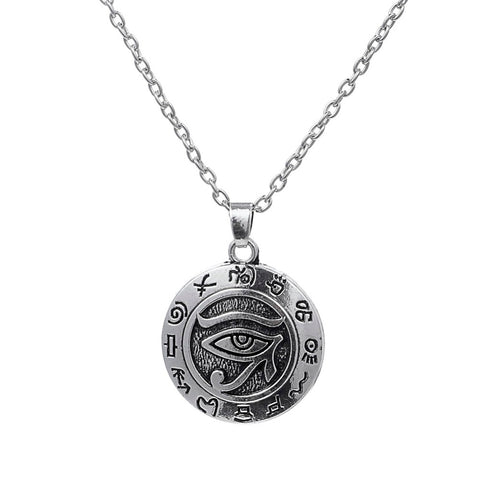 religious egyptian eye of ra pendant necklace