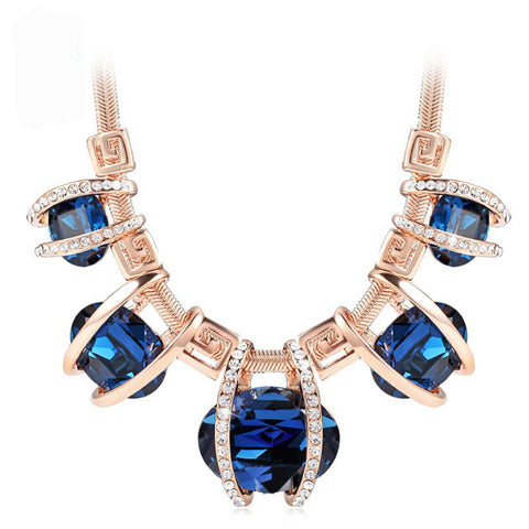luxury crystal statement necklace & pendant for women