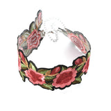 maxi bohemian flower women tattoo choker necklace
