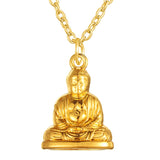 Gold color Buddha pendant Necklace