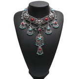 bohemian maxi choker necklace & pendant for women
