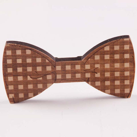 wooden bow tie clip for men