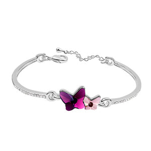 double butterfly crystal from Swarovski bracelet for women