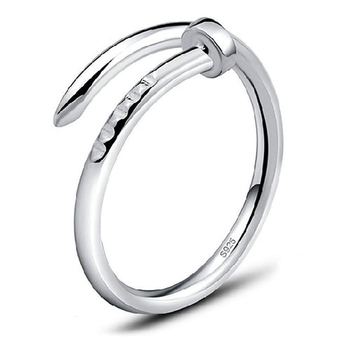 trendy silver color open ring for women