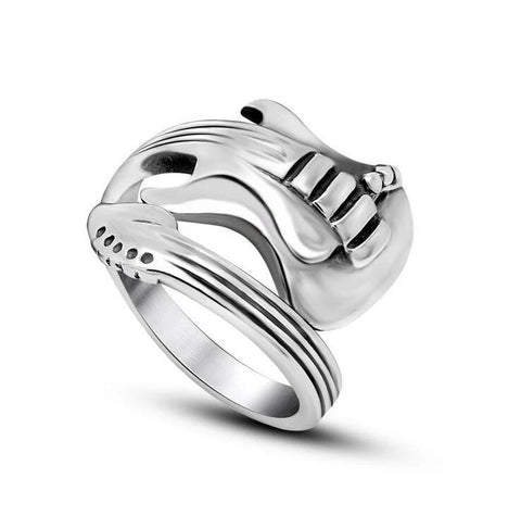 cool stainless steel guitar ring