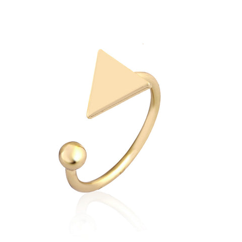 punk style trendy adjustable triangle ring for women