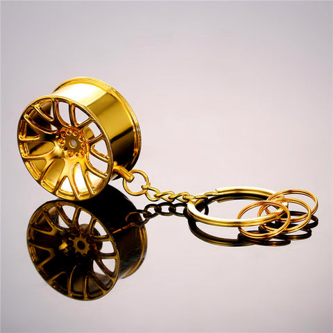 cool wheel rim model key chain for men