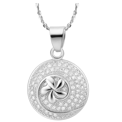 luxury zircon crystal necklace & pendant for women