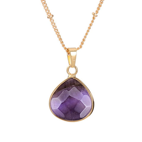 elegant natural stone pendant necklace for women