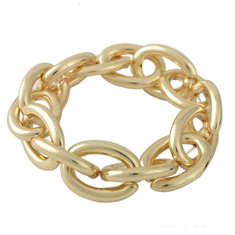 big exaggerated gold color chunky link chain bracelet