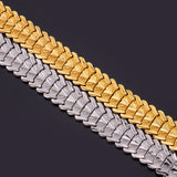trendy gold/silver color bracelet for men