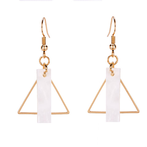 punk style triangle shape drop earrings for women