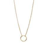 karma double chain circle necklace & pendant - very-popular-jewelry.com