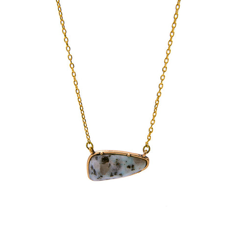 minimalist irregular natural stone necklace for women